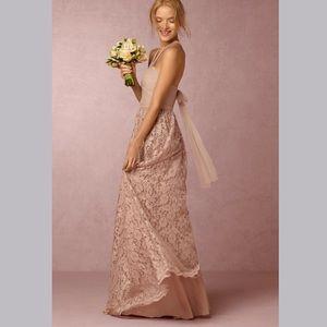 🆕NWT orig $225 BHLDN blush lace maxi skirt